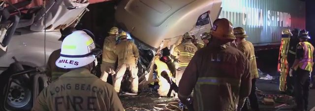710 Freeway Big Rig Crash